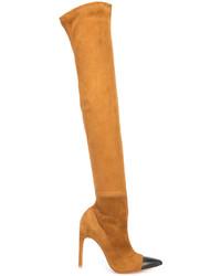 Botas sobre la rodilla en tabaco de Givenchy