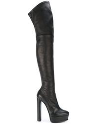 Botas sobre la rodilla negras de Casadei