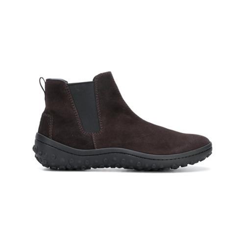 Botines chelsea de ante en marrón oscuro de Car Shoe