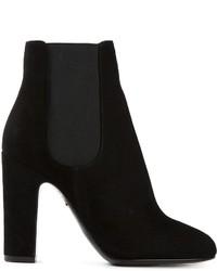 Botines chelsea de ante negros de Dolce & Gabbana