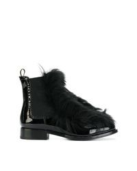 Botines chelsea de cuero con adornos negros de Car Shoe