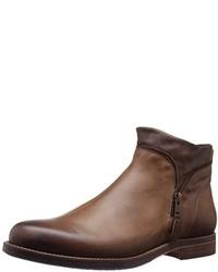 Botines chelsea de cuero marrónes de Bacco Bucci