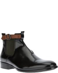 Botines chelsea de cuero negros de Alexander McQueen