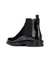 Botines chelsea de cuero negros de Dolce & Gabbana