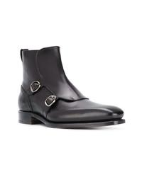 Botines chelsea de cuero negros de Ermenegildo Zegna Couture