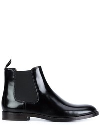 Botines chelsea de cuero negros de Marc Jacobs