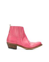 Botines chelsea de cuero rosa de Golden Goose Deluxe Brand