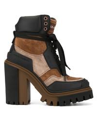 Botines con cordones de ante marrónes de Dolce & Gabbana