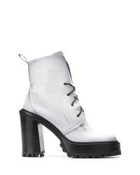 8e04c9ca4c3fb Comprar unos botines con cordones de cuero blancos  elegir botines ...