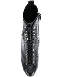 Botines con Cordones Negros de Dsquared2
