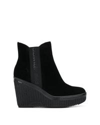 Botines con cuña de ante negros de Calvin Klein Jeans