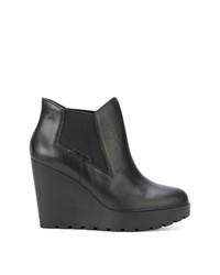 Botines con Cuña de Cuero Negros de Calvin Klein Jeans