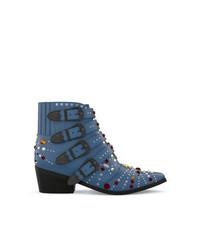 Botines de ante con adornos azules de Toga Pulla