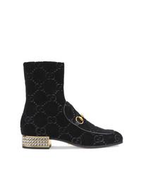 Botines de ante con adornos negros de Gucci