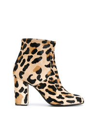 Botines de ante de leopardo marrón claro de P.A.R.O.S.H.