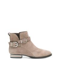 Botines de ante marrón claro de DKNY