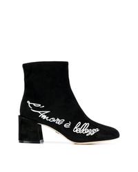 Botines de ante negros de Dolce & Gabbana