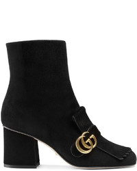 Botines de Ante Сon Flecos Negros de Gucci