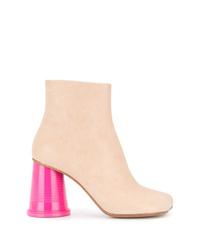 Botines de ante rosados de MM6 MAISON MARGIELA