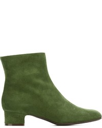 Botines de ante verde oscuro de P.A.R.O.S.H.