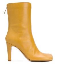 Botines de cuero amarillos de Bottega Veneta