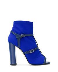 Botines de cuero azules de Marc Ellis