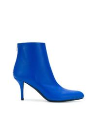 Botines de cuero azules de Marni
