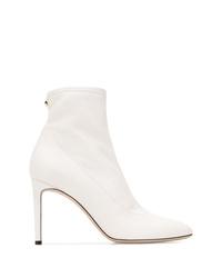 Botines de cuero blancos de Giuseppe Zanotti Design