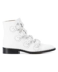 Botines de cuero blancos de Givenchy