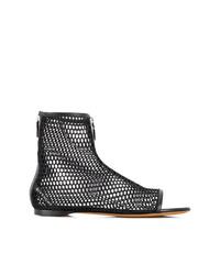 Botines de cuero con recorte negros de Givenchy