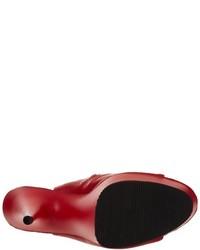 Botines de cuero con recorte rojos de Pleaser