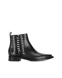 Botines de cuero con tachuelas negros de Alexander McQueen