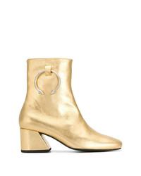 Botines de cuero dorados de Dorateymur