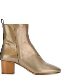 Botines de cuero dorados de Etoile Isabel Marant