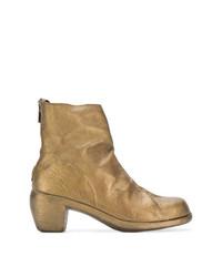 Botines de cuero dorados de Guidi