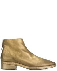 Botines de cuero dorados de Marsèll