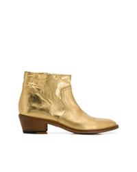 Botines de cuero dorados de Zadig & Voltaire
