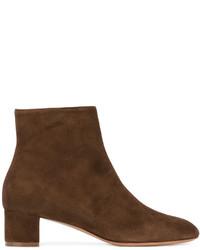 Botines de cuero en marrón oscuro de Mansur Gavriel