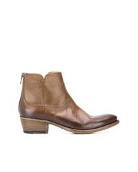Botines de cuero marrón claro de Pantanetti