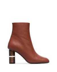 Botines de cuero marrónes de Neous