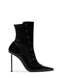 Botines de cuero negros de Alexander McQueen