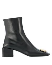 Botines de cuero negros de Balenciaga
