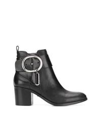 Botines de cuero negros de DKNY
