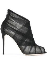 Botines de cuero negros de Dolce & Gabbana