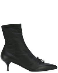 Botines de cuero negros de Ermanno Scervino