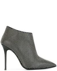 Botines de Cuero Negros de Giuseppe Zanotti Design