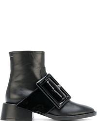 Botines de cuero negros de MM6 MAISON MARGIELA