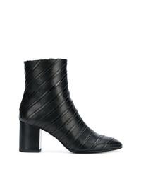 Botines de cuero negros de Sonia Rykiel
