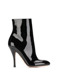 Botines de cuero negros de Valentino
