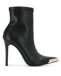 Botines de cuero negros de Versace Jeans Couture